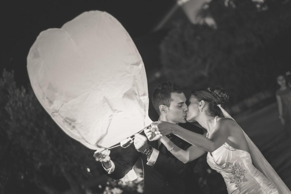 Globos de fuego boda